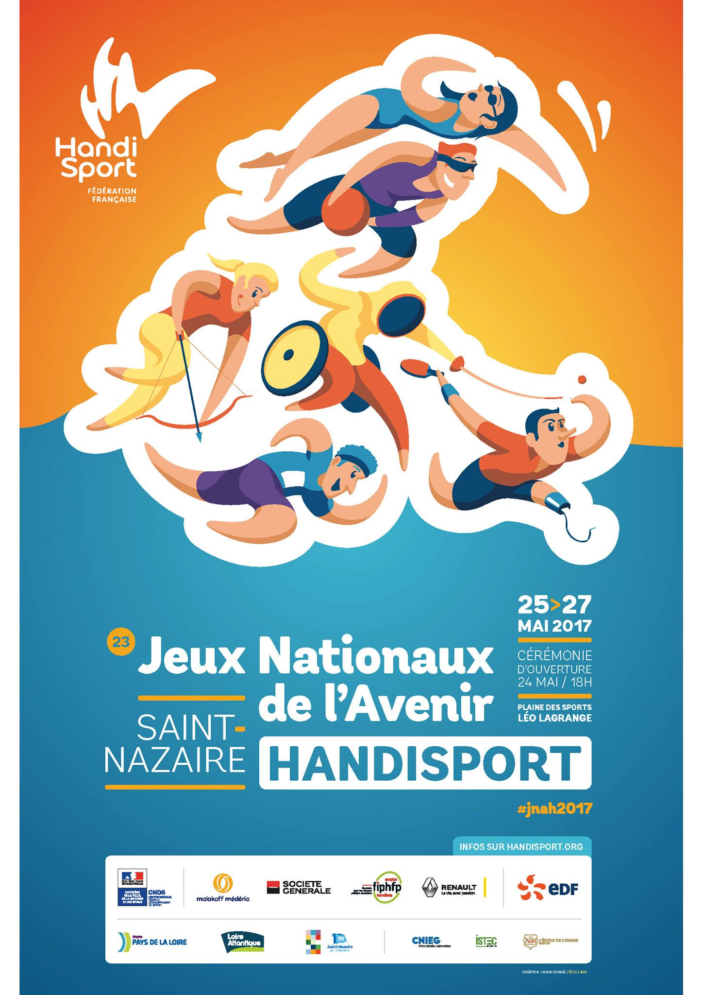Affiche Jeux Nationaux de l'avenir
